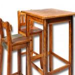 Mesa e cadeira altas